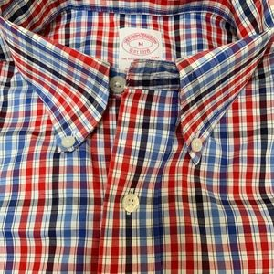 Brooks Brothers - Dress Shirt - Red and Blue Check